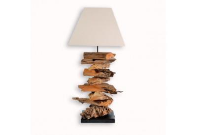Lampe Yalu en bois flotté H 66 cm