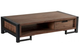 Table basse en teck & métal Wales L 110 cm - CASITA