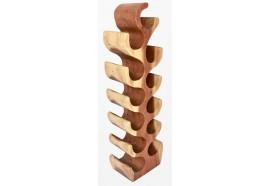 Range bouteille en bois de suar - 100 cm