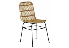 Chaise en rotin & métal CHAMOA