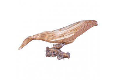 Sculpture Baleine en bois 50 cm