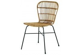 Chaise en rotin & métal Hora