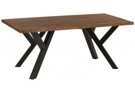 Table L 240 cm en teck & métal Bello - Casita