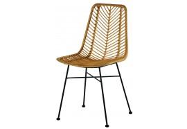 Chaise en rotin & métal Coco