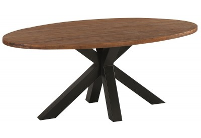 Table ovale L 190 cm en teck & métal Bailey - Casita