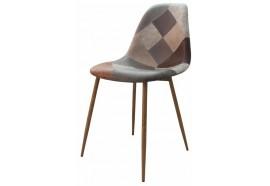 Chaise scandinave patchwork brun Oraz - Zons