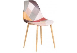 Chaise scandinave patchwork clair Oraz - Zons