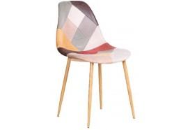 Chaise scandinave patchwork clair Oraz - Zons