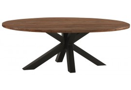 Table ovale L 230 cm en teck & métal Bailey - Casita