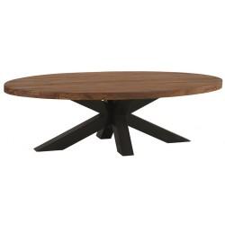 Table basse ovale en teck & métal Bailey - Casita