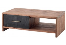Table basse 2 tiroirs en Teck Zetta - Casita