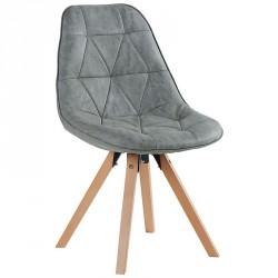 Chaise scandinave grise Yate - Casita