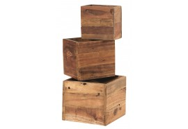 Set 3 cubes Hunter en bois recyclé - Casita
