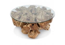 Table basse ronde Satu en teck Ø 95 cm