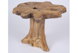Table d'appoint ronde Tima en teck