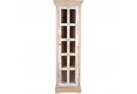 Colonne vitrée Kaya en mindi blanchi