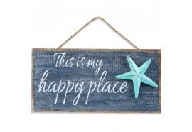 Déco murale This is My Happy Place en bois