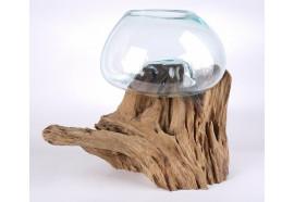 Vase sur bois flotté de teck Alas 9