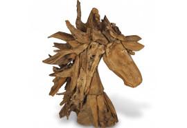 Tête de cheval en bois flotté 95 x 90 cm
