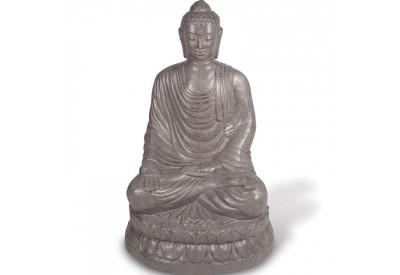 Statue Bouddha assis 100 cm - Gris
