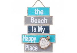 Déco murale Beach Happy en bois