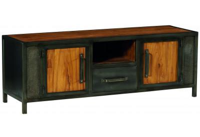Meuble TV teck & métal Talmo L 152 cm - CASITA