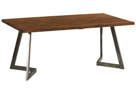 Table en teck et fer Talmo 180 cm - CASITA