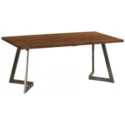 Table en teck et fer Talmo 180 cm - CASITA