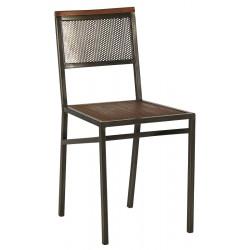 Chaise en teck recyclé & fer vieilli Talmo - CASITA