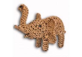 Eléphant en fibre tressée