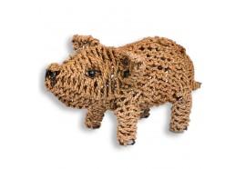 Cochon déco en fibre tressée