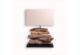 Lampe en bois flotté H 49 cm