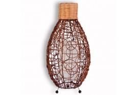 Lampe ovale en rotin H 60 cm