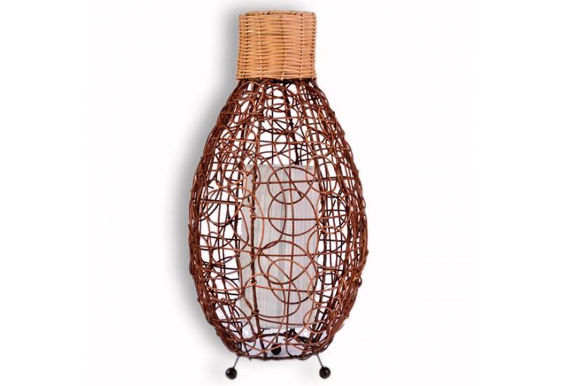 lampe ovale en rotin h 60 cm d co de bali koh deco. Black Bedroom Furniture Sets. Home Design Ideas
