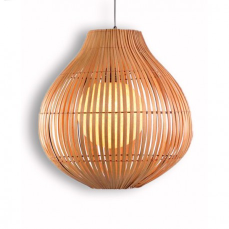 Suspension exotique en bambou h 48 cm d co bali koh deco - Suspension luminaire exotique ...