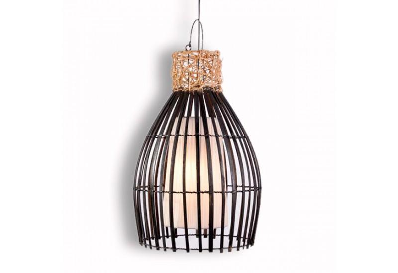 suspension en bambou et rotin h 52 cm d co bali koh deco. Black Bedroom Furniture Sets. Home Design Ideas