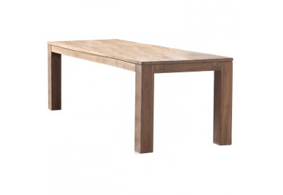 Table rectangulaire en teck Borneo L 220 cm - CASITA