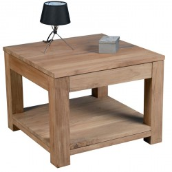 Table basse carrée en teck Borneo L 60 cm - CASITA