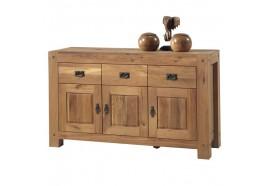 Bahut 3 portes - 3 tiroirs en chêne LODGE CASITA