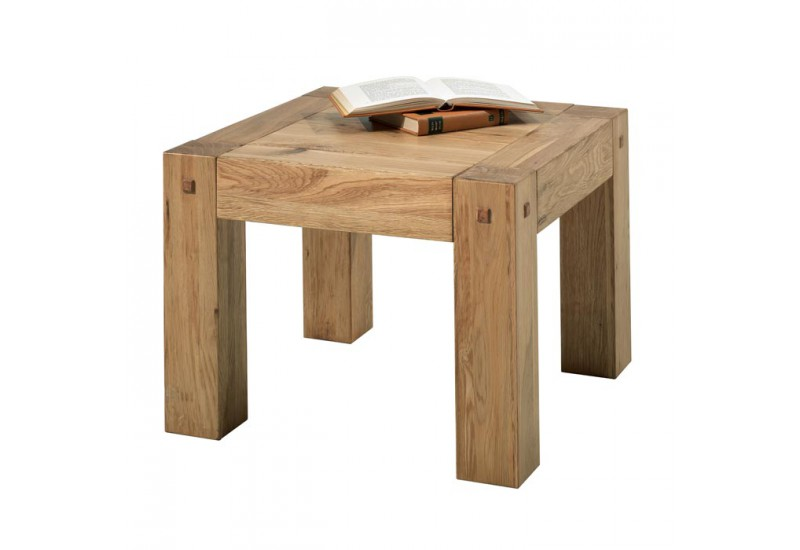 table basse carr e en ch ne massif lodge casita koh deco. Black Bedroom Furniture Sets. Home Design Ideas