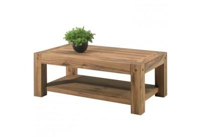 Table basse double plateau en chêne Lodge L 120 cm - CASITA