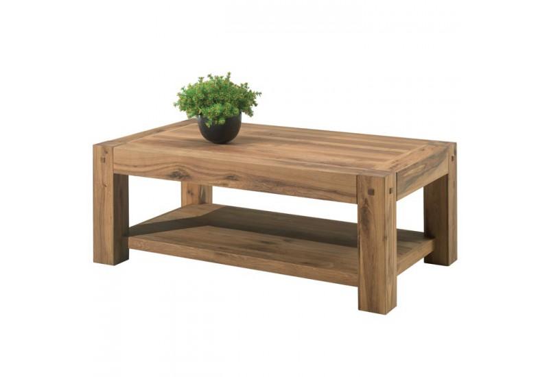 table basse double plateau en ch ne lodge casita koh deco. Black Bedroom Furniture Sets. Home Design Ideas