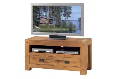 Meuble TV en chêne Lodge L 120 cm - CASITA
