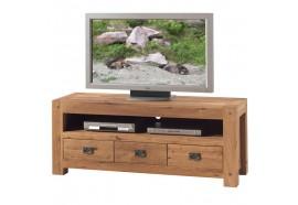Meuble TV L 150 x H 60 cm en chêne LODGE CASITA