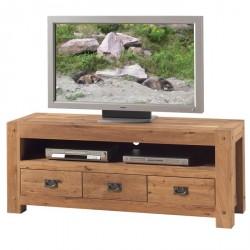 Meuble TV en chêne Lodge L 150 cm - CASITA