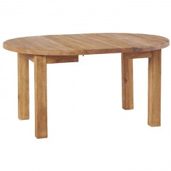 Table ronde en pin avec rallonge table ronde et chaises for Table ronde 110 cm avec rallonge