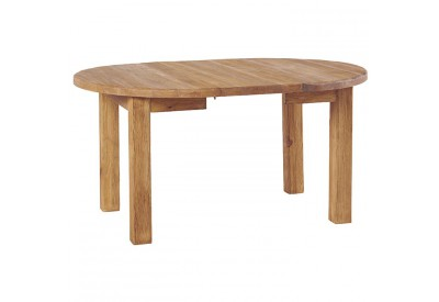 Table ronde en pin & allonge Cottage Ø 110 cm - CASITA