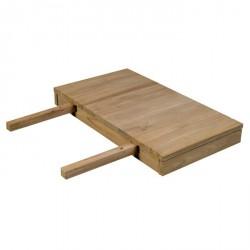 Allonge de table en teck Borneo L 50 cm - CASITA