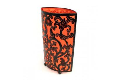Lampe arabesque en métal H 50 cm - Orange