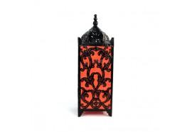 Lampe carrée arabesque Orange